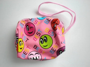 Smiley Face Purse: Pink
