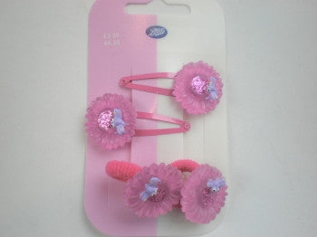Flower Hairclips & Ponios