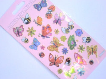 Butterflies and Bugs Foiled Stickers