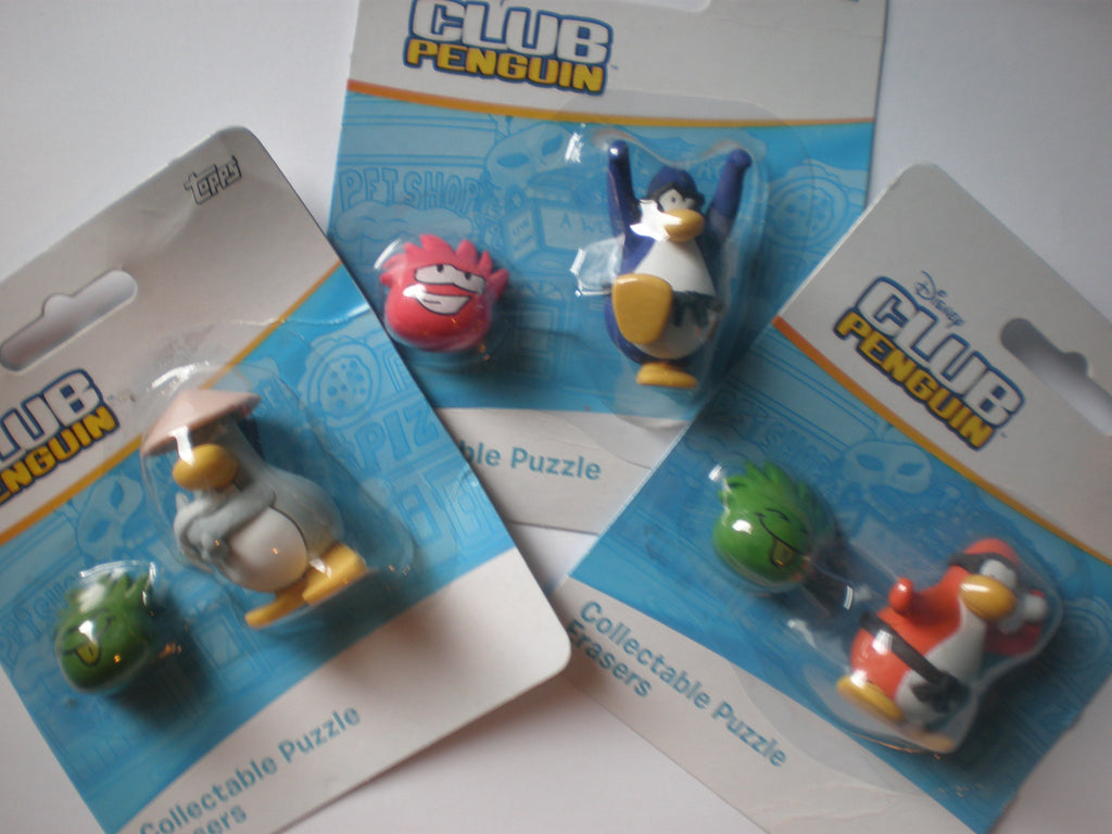 Club Penguin Puzzle Erasers
