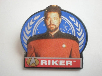 Star Trek Pin Badge: Riker