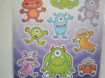Monsters Stickers Sheets
