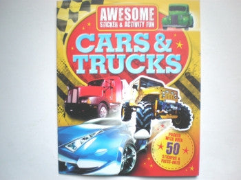 Cars and Trucks Sticker & Activity Books