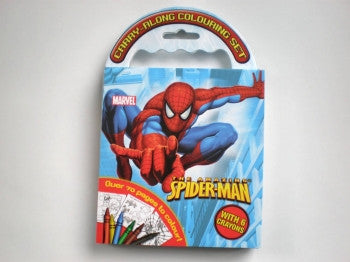 Spiderman Carry-Along Colouring Set