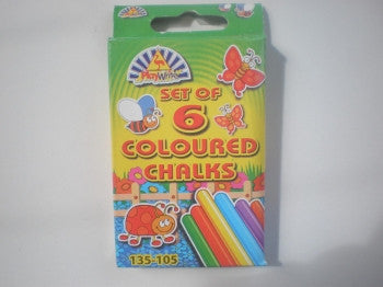 6 Coloured Chalks