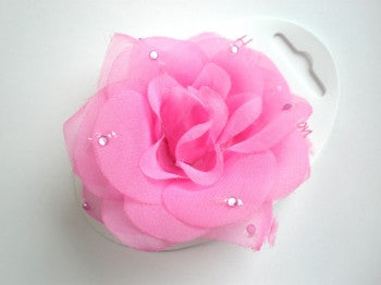 Flower Hair Bobble: Pink