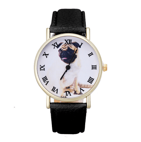 Custom Designed Dog Watch (Pug) (FREE + Shipping)