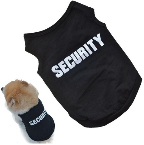 Dog Shirt (Security) (Free + Shipping)