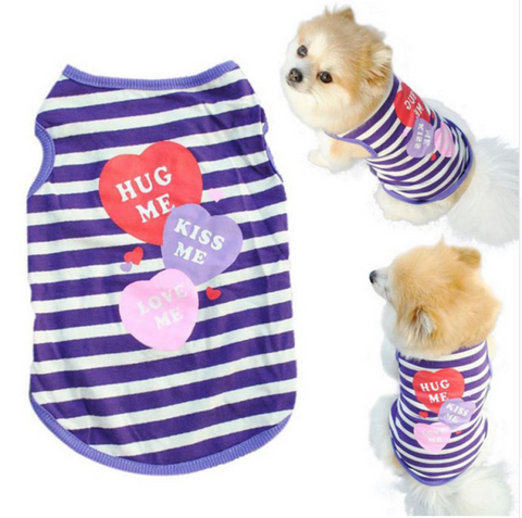 Custom Dog Shirt (HugKissLoveMe) (XS/S/M/L)