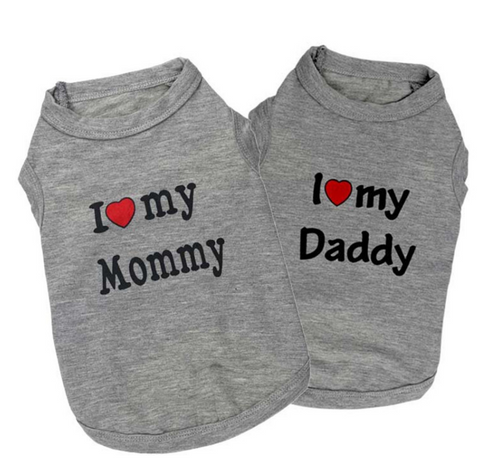 Custom Dog Shirt (Love Daddy/Mommy) (FREE + Shipping)