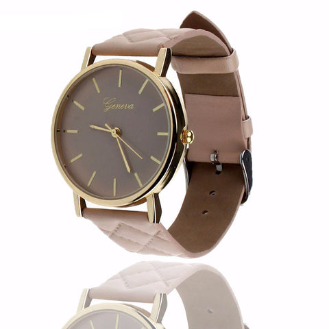 Geneva Quartz Watch (Stylish Leather) (7 Colors)