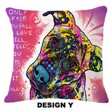 Designer Handmade Dog Pillow Cover (23 Colorful Designs)