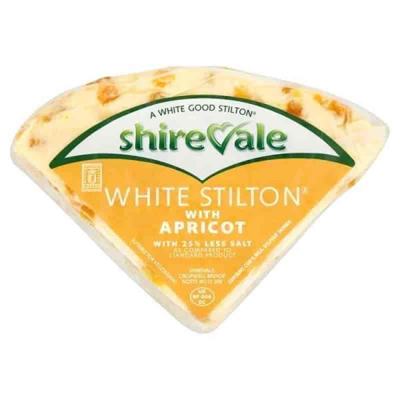 Buy Shirevale White Stilton with Apricot 500g - Get Fresh & Fruity - Cheese & Butter - Get Fresh & Fruity Alton - Shop Local Today