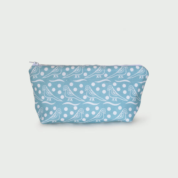 <strong>Bird Hop Makeup Bag</strong><br>Aqua