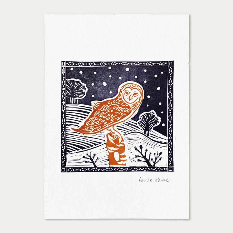 <strong>Barn Owl</strong><br>Midnight/Ochre