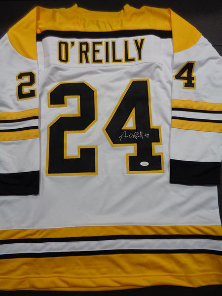 Terry O'Reilly Boston Bruins Autographed Custom White Style Jersey w/JSA W coa