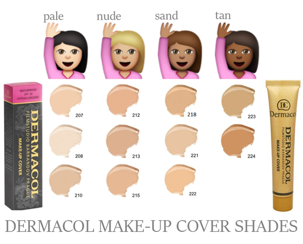 Dermacol makeup cover shades