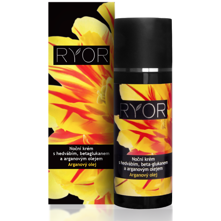 Ryor Night Cream with Silk, Beta-Glucan and Argan Oil