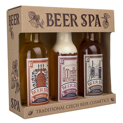 Premium beer cosmetics - gel, shampoo and foam