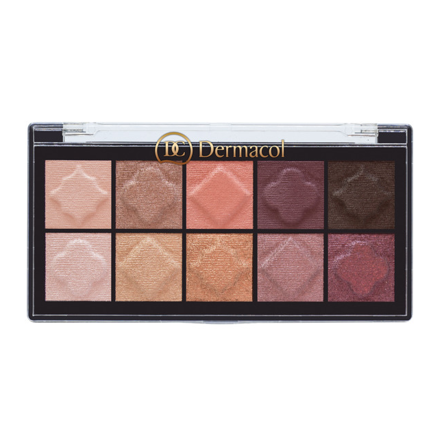 Eyeshadow palette matt and pearl