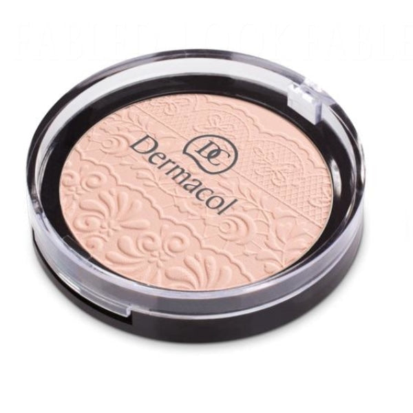 Compact Powder With Lace Relief Powder