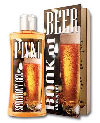 Beer spa shower gel - book