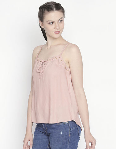 Strappy Top With Eyelet Detail