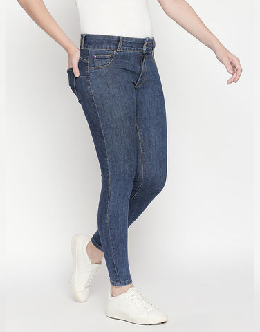 Montreal Push Up Dark Blue Jeans