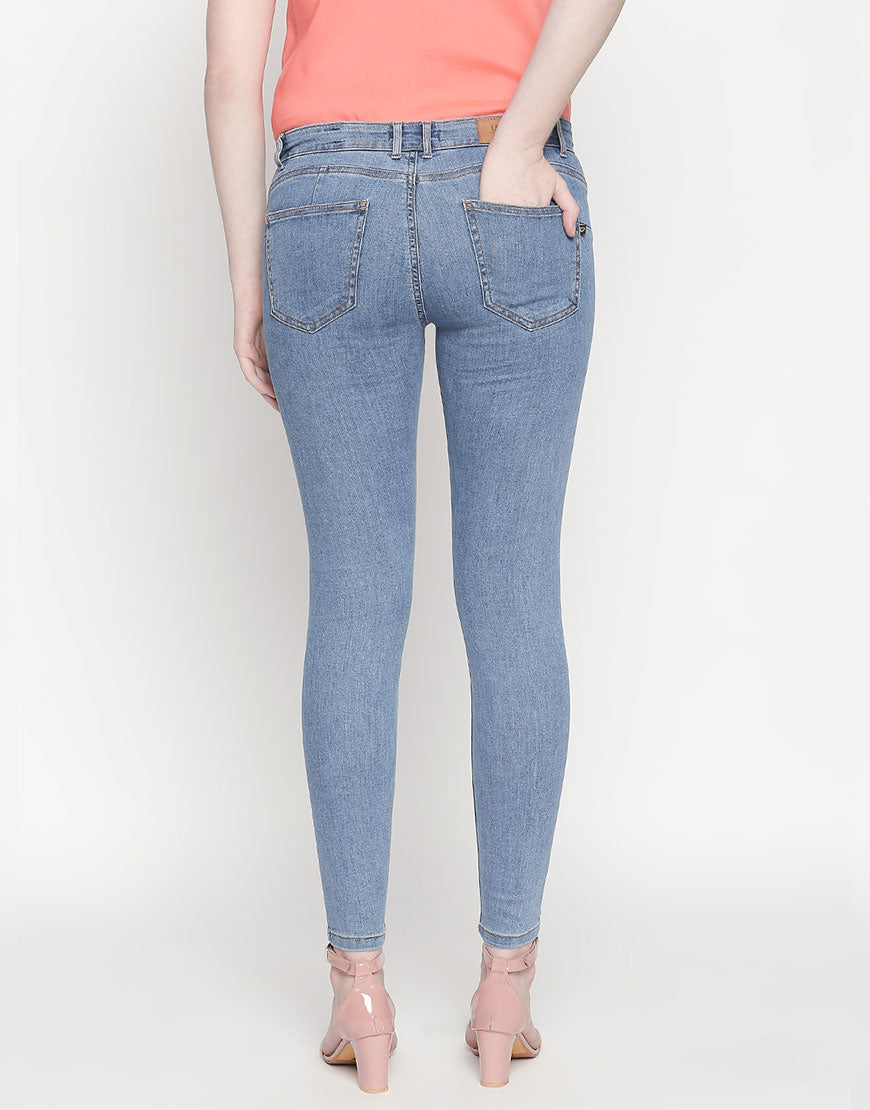 Montreal Push Up Mid Blue Jeans