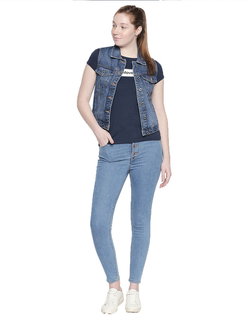 Vienna High Waist Mid Blue Jeans