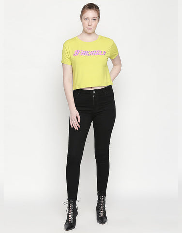 Vienna High Waist Black Jeans