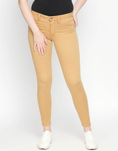Brazil Camel Non Denim Skinny Fit