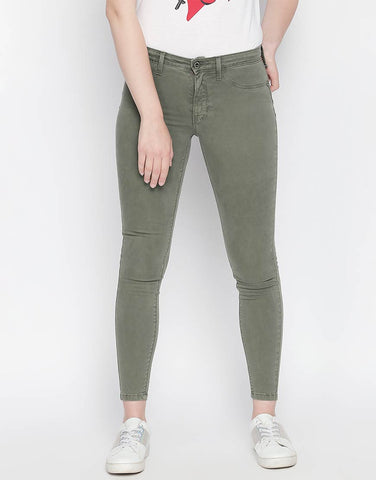 Brazil Khaki Non Denim Skinny Fit