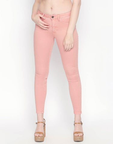 Brazil Peach Non Denim Skinny Fit