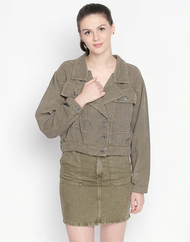 Dublin Olive Denim Jacket