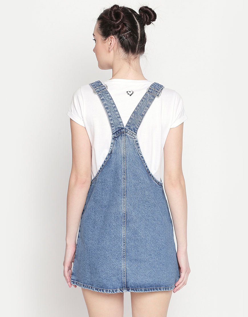 Geneva Indigo Dungaree Denim Dress