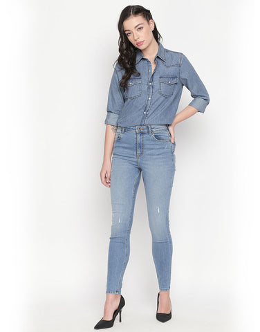 Ibiza High Light Blue Waist Jeans