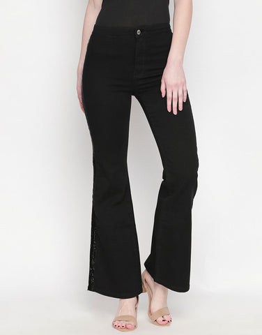 Madrid Black Flare Jeans
