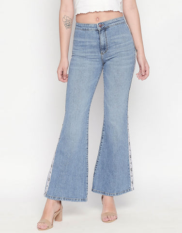 Madrid Mid Blue Flare Jeans