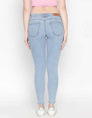 Montreal Light Blue Pushup Jeans