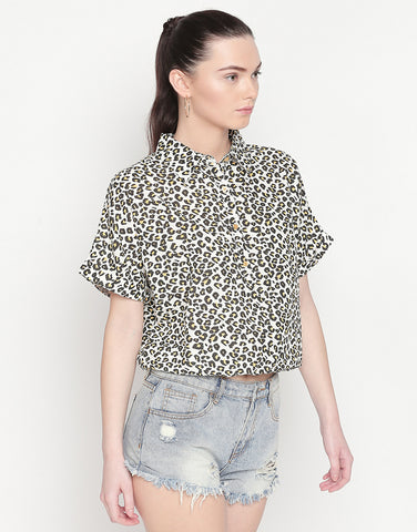 Printed Shirt With Elasticated Hem