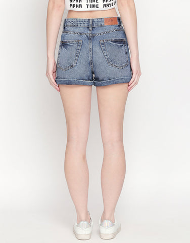 Blue Denim Shorts
