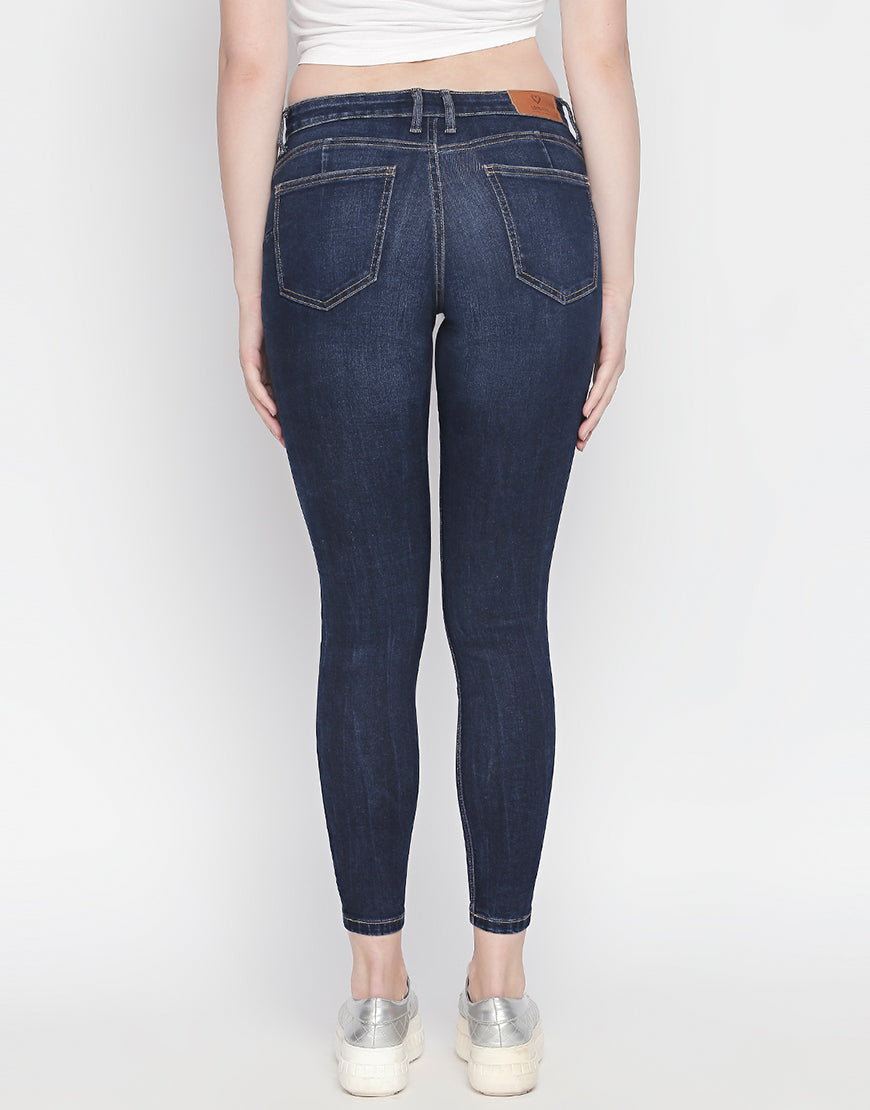 Seoul Dark Blue Push Up Jeans