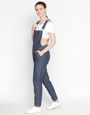 Sydney Indigo Stripe Dress Dungaree