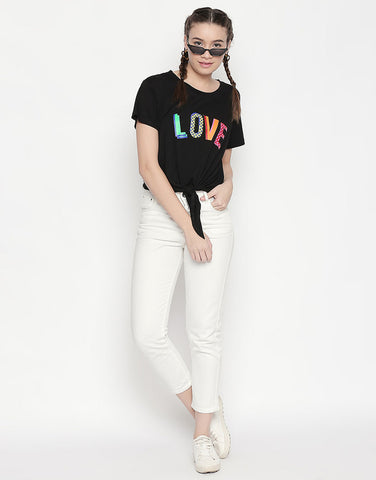 Love Print Short Sleeve T-Shirt