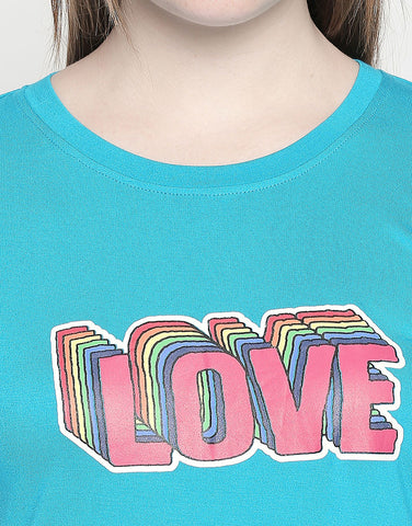 Love Print Sleeveless T-Shirt
