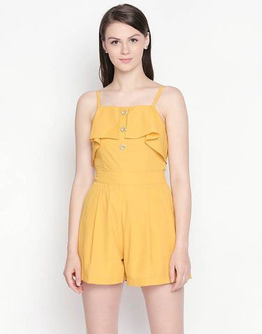 Strappy Playsuit With Ruffles Detail