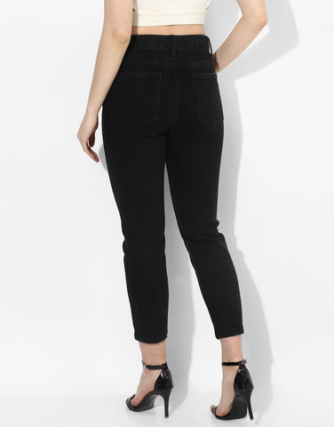 Valencia Mom Fit  Black Jeans