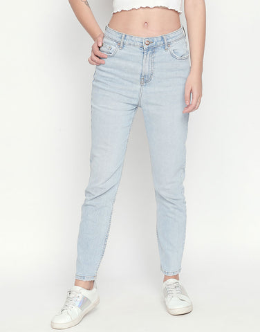 Valencia Bleach Mom Fit Jeans