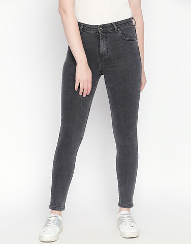 Vienna Grey High Waist Jeans